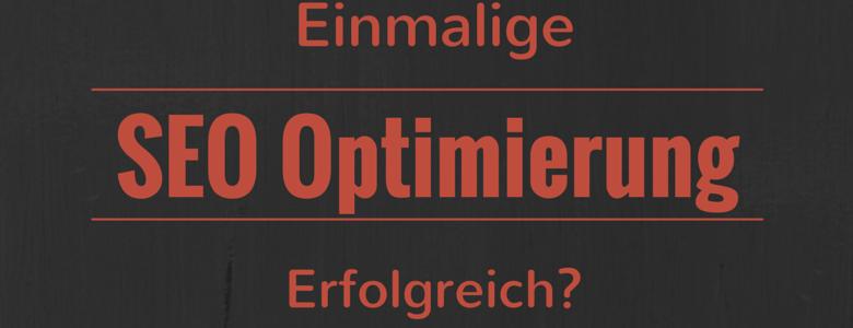 Einmalige SEO Optimierung