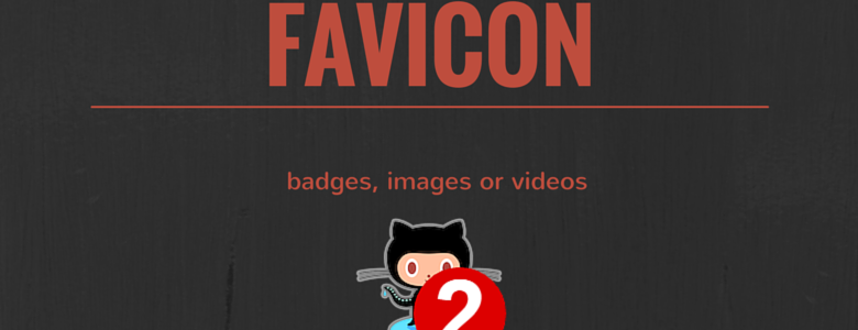 favicon.js - badges, images or videos