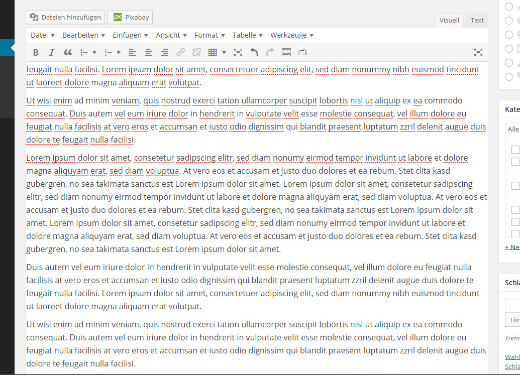 Wordpress Editor: intelligente Höhe